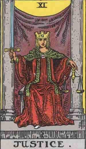 The Justice Tarot Card