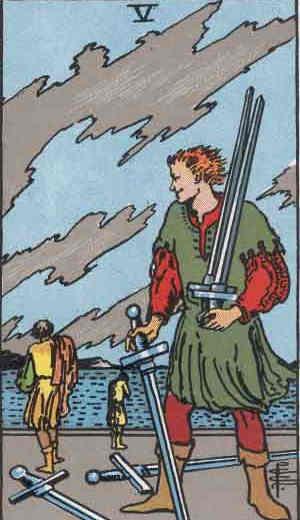 Five of Swords Tarot Card