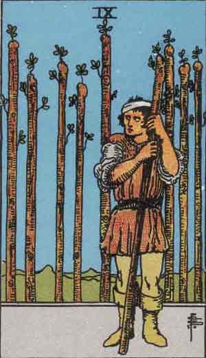 Nine of Wands - Tarot Card
