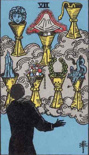 Seven of Cups Tarot Card