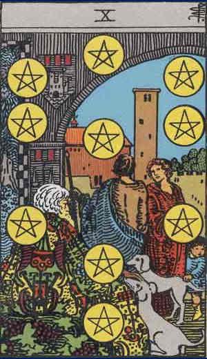 Ten of Pentacles Tarot Card