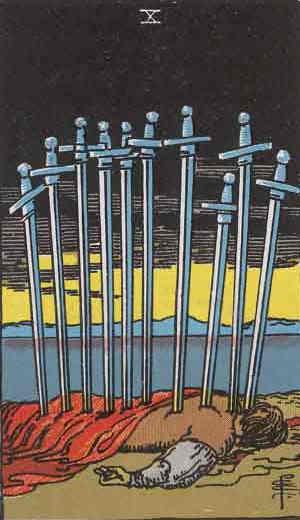 Ten of Swords Tarot Card