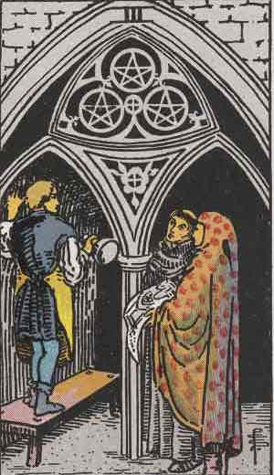 Three of Pentacles Tarot Card